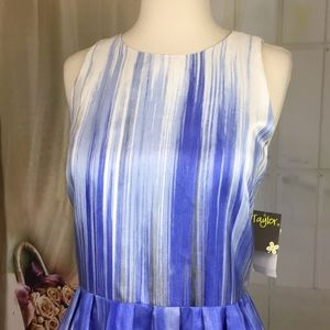Taylor Dresses - Taylor Periwinkle Sleeveless Party Dress